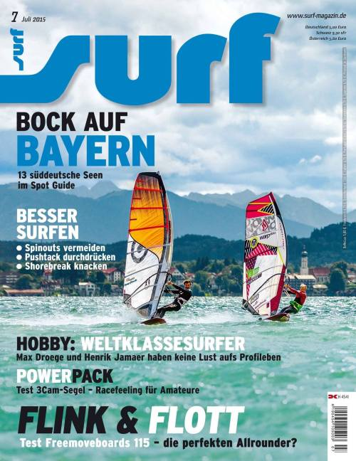 SURF Cover + 16 pages Bavaria Spotguide 7/2015